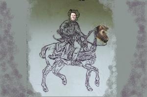Nasze jedyne zdjęcie Filipa i jego wierzchowca.